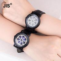 New Arrival Hollow Black Leather Analog Round Dial Men Women Unisex Wrist Watch Wristwatches 1 Year Warrenty