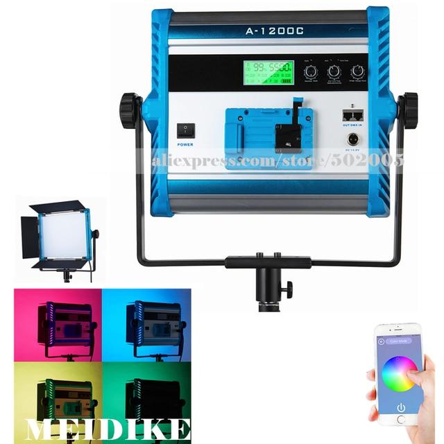 a1200c app control rgb led lamp 4 colors photography pro soft light