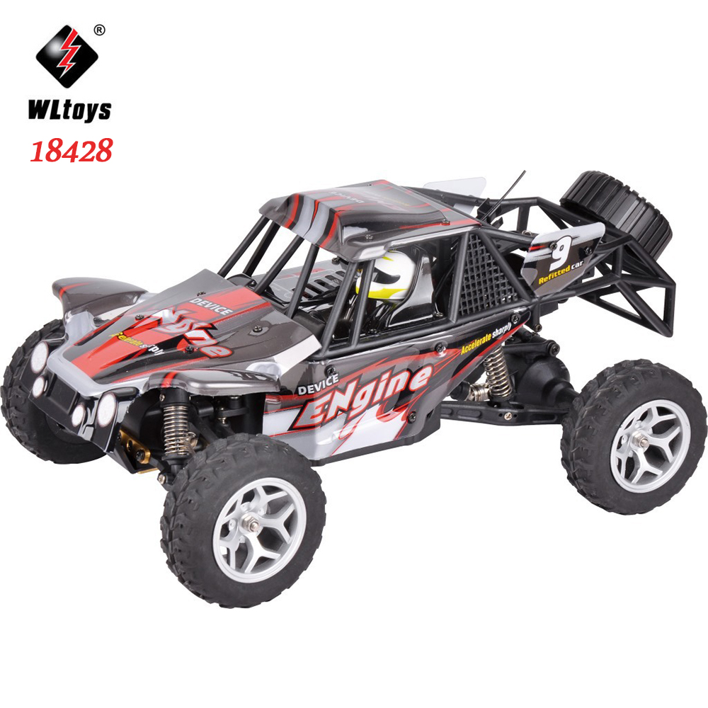 WLtoys 18428 RC Car Electric Racing Remote Control Car 4WD Drive Desert Climbing Car High-speed Off-road Vehicle Model Toy mst 532141 cmx 1 10 4wd fj40 kit off road car climbing simulation model car