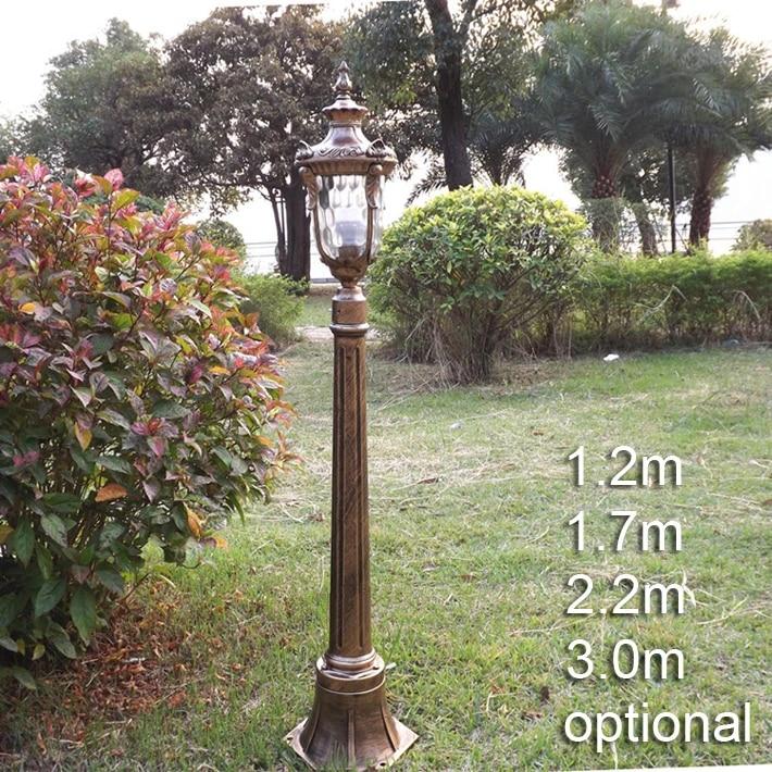 Gaya Eropa Lampu Jalan Taman Lampu Jalan Dengan Rod Tahan Air Klasik Vintage Outdoor Lampu Taman Dengan Tiang Lighting Gas Lamp Light Curing Lamplamp Light Theater Aliexpress