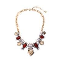 Rode Hars Glas Kristal Mode Dikke Etnische Ketting Bohemen India Kettingen Hot Nieuwe Fabriek Groothandel Sieraden