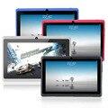 7 дюймов Android tablet pc Allwinner A33 ROM DDR3 512 МБ 8 ГБ, wi-fi Quad core, двойная Камера Мути сенсорный FM с Bluetooth