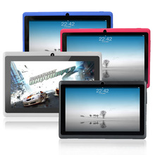 7 pulgadas Android tablet pc Allwinner A33 DDR3 512 MB ROM 8 GB, Wifi Quad core, Muti táctil de doble Cámara de FM, Precios más bajos