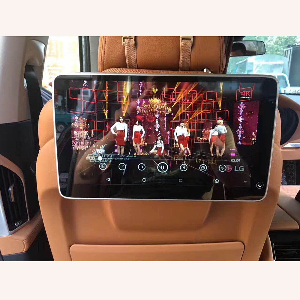 2018 UI Style Latest Product for BMW Rear Seat Entertainment Headrest Android 6.0 System with 11.6 inch Car Pillow Monitor 2PCS цена