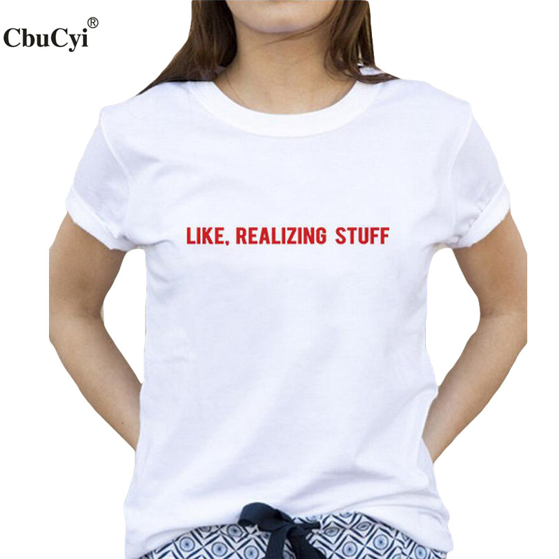 buy harajuku fashion tumblr tee shirt femme like realizing stuff slogan t shirt. Black Bedroom Furniture Sets. Home Design Ideas