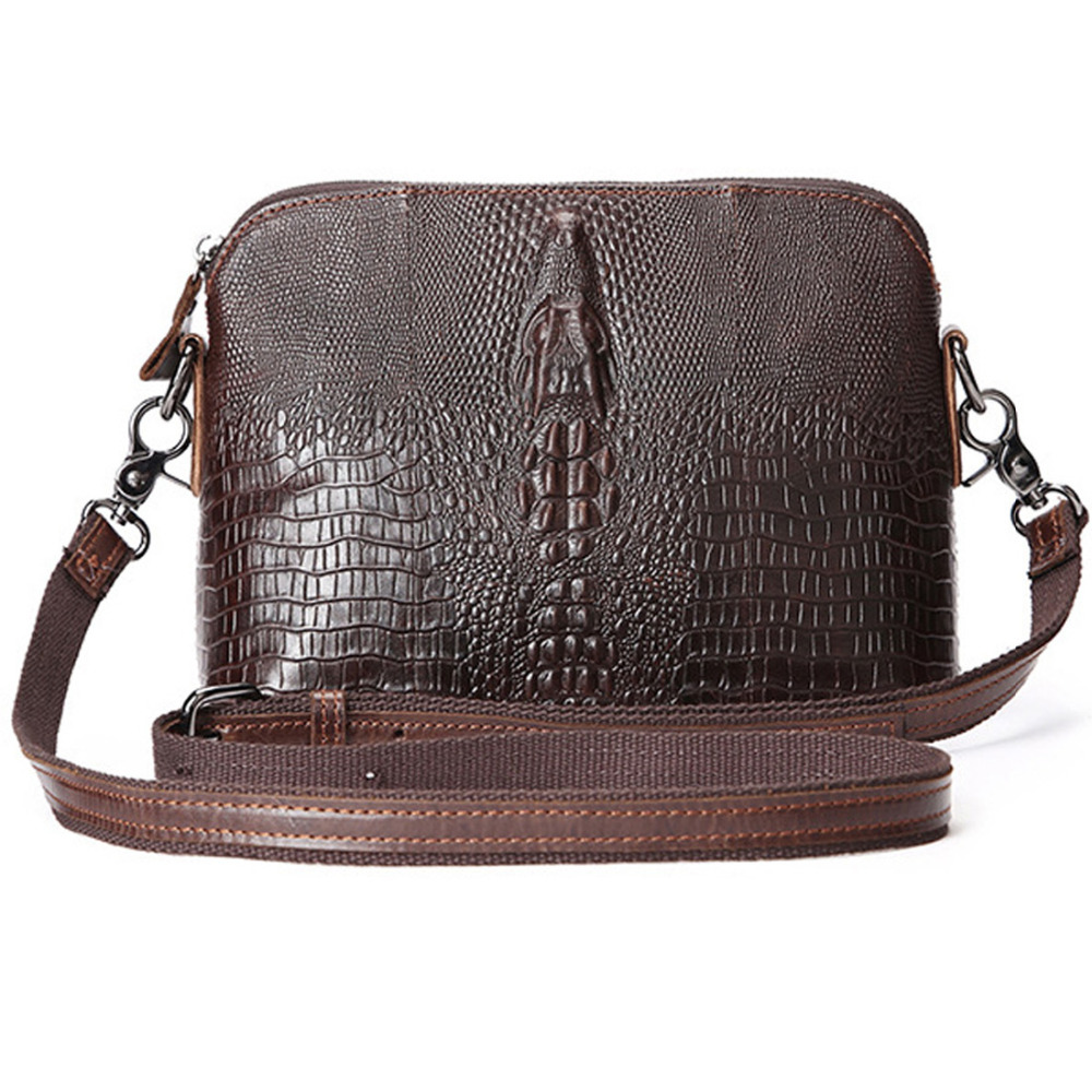 2016 Top Quality Genuine Leather First Layer Cowhide Crocodile Style Women Messenger Shoulder Crossbody Luxury Trend
