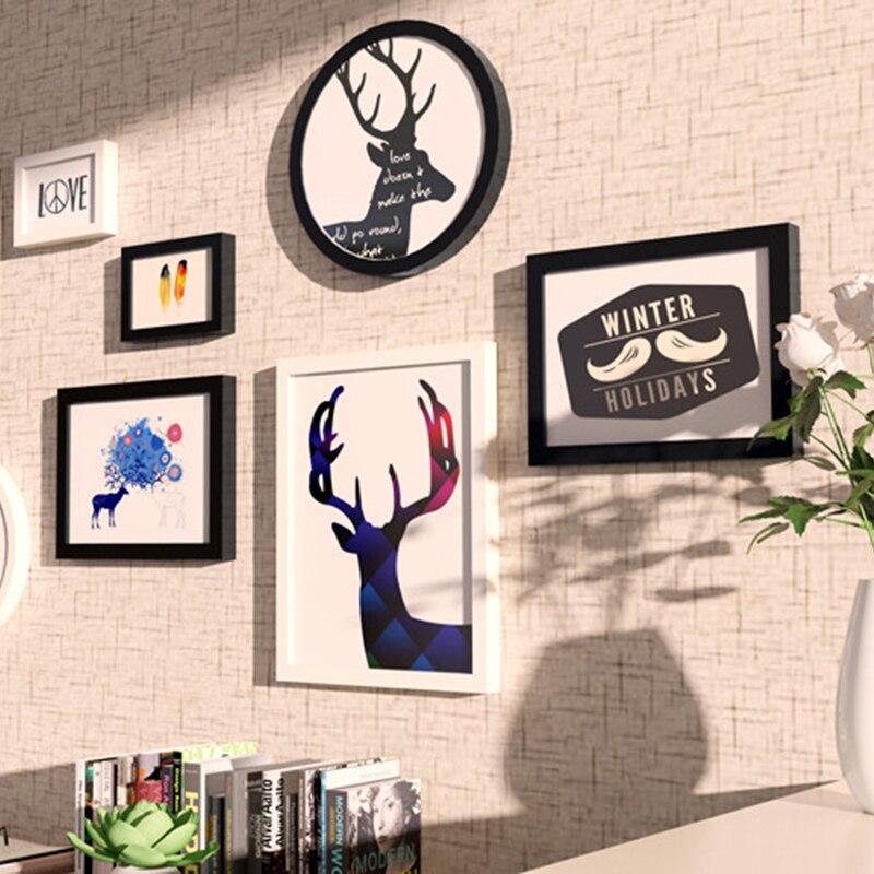Startseite Wandbilder Bild Malerei Rahmen Kombination Wohnzimmer  Schlafzimmer Einfache Stil Kunst Artware Dekoration Holz Bilderrahmen In  Startseite ...