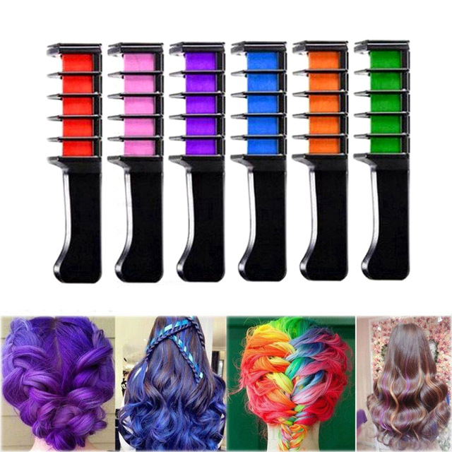 10 Colors Fashion Design Hair Coloring Crayons One time Chalk ...