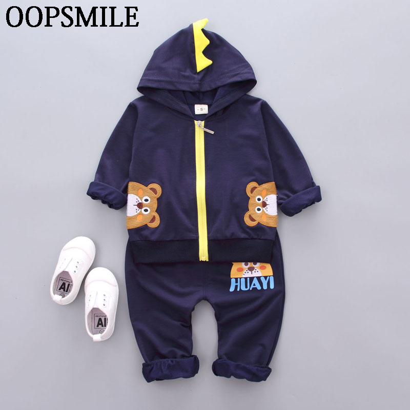 Cute Infant Newborn Baby Boy Girl Clothes 3D Hoodie Coat Cotton Cartoon Pants 2pcs Outfit Bebes Clothing Set Tracksuit 2pcs baby boy outfit set summer 2017 cute newborn baby sets infant girl clothing suits short sleeve cotton toddler baby girl set