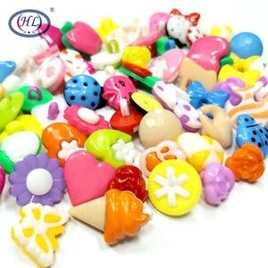 HL 50/150pcs Lots Assorted Patterns Shank Cartoon Plastic Buttons Children's Dolls Sewing Accessories DIY Scrapbooking Crafts