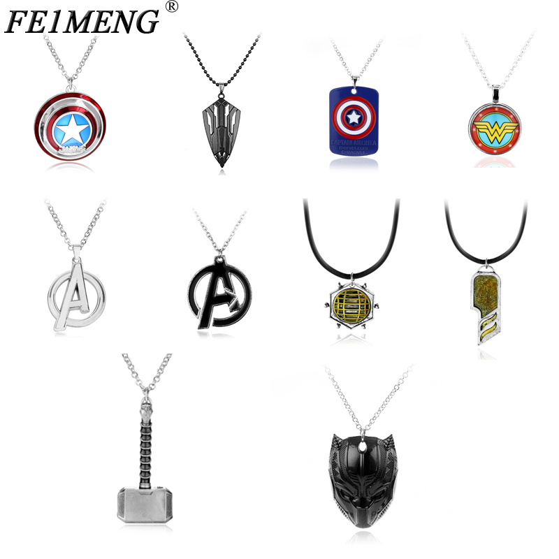 Mar Series Necklace The Avengers 3 Infinite War Classic Superhero Equipment  Pendant Necklaces For Men Women Fans Dropship(China)