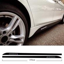 5D carbono fibra falda lateral alféizar de raya de automovilismo para BMW F30 F31 F32 F33 F22 F23 F15 F85 F10 E60 E61 G30 E90 M rendimiento etiqueta engomada