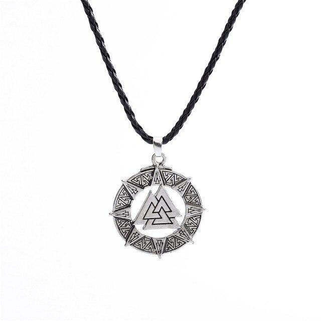 Necklaces Slavic Norway Valknut Pagoda Amulet Pendant Men Necklace Jewelry Scandinavian Viking Odin Is Symbol Of The May3117 1