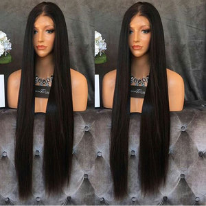 Image 5 - Fantasy Beauty Yaki Straight Lace Front Synthetic Wigs Long Straight Heat Resistant Hair Pre Plucked Wig with Natural Hairline