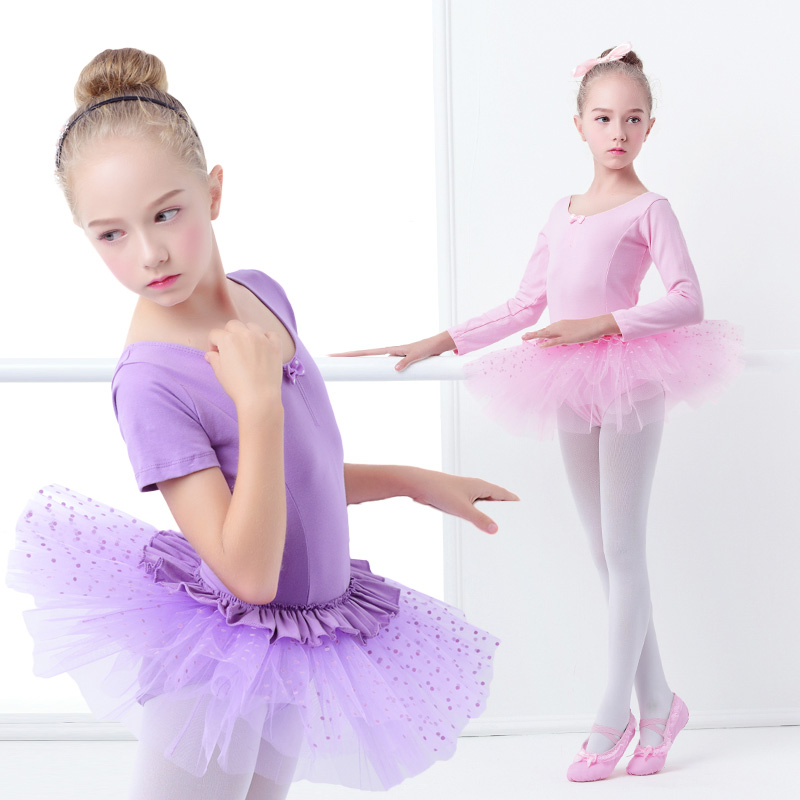 Toddler Girls Ballet Costumes Dance Dress Pink Princess Ballet Tutu Stage Performance Training Dance Wear For Kids