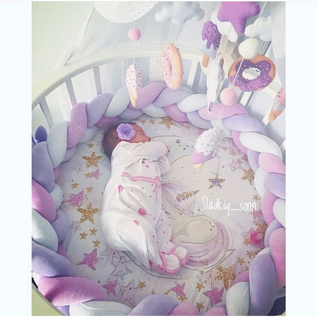Newborn Baby Bed Bumper Protector Bumpers In The Crib Tour De Lit Bebe Tresse Crib Bumper Plush Knot Baby Crib Bumper Pillow