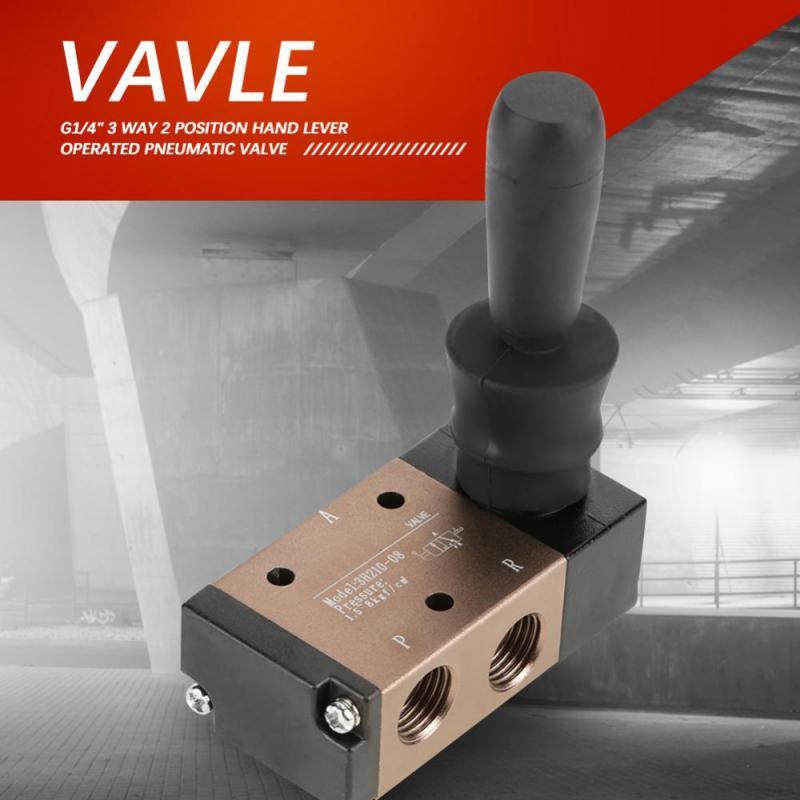 Sanitär Liefern 2 Position 3 Weg G1/4 hand Hebel Betrieben Pneumatische Ventil Air Control 3h210-08 Mit Hoher Qualität