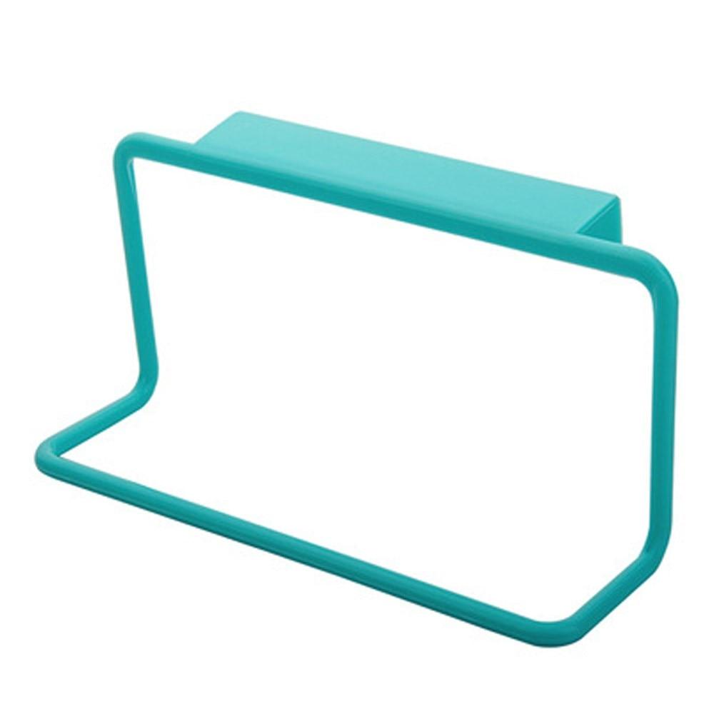 Держатель для полотенец вешалка для полотенец подвесной держатель Органайзер для ванной комнаты кухонный шкаф вешалка для шкафа - Цвет: Синий