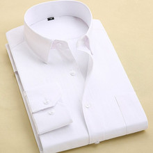 Long Sleeve Slim Men Dress Shirt Brand New Fashion Designer High Quality Solid Male Clothing Fit Business Shirts