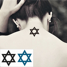 Cute Pentacle Flash Tattoo Hand Sticker 10.5x6cm Small Waterproof Henna Beauty Temporary Body Tattoo Sticker Art FREE SHIPPING