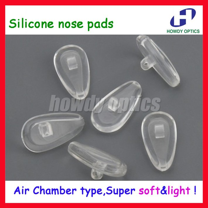 Wholesale High Quality Eyeglasses Silicone Air nose pads Super Light Soft Free Shipping