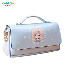 Multifunctional Real Student Bag Accessories Set Large Capacity Faux Leather Crayon Girls Bags School Supplies Cute Gift Package(China)