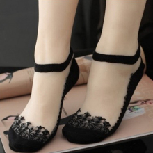 Cute Print Transparent Low Cut Ankle Sock