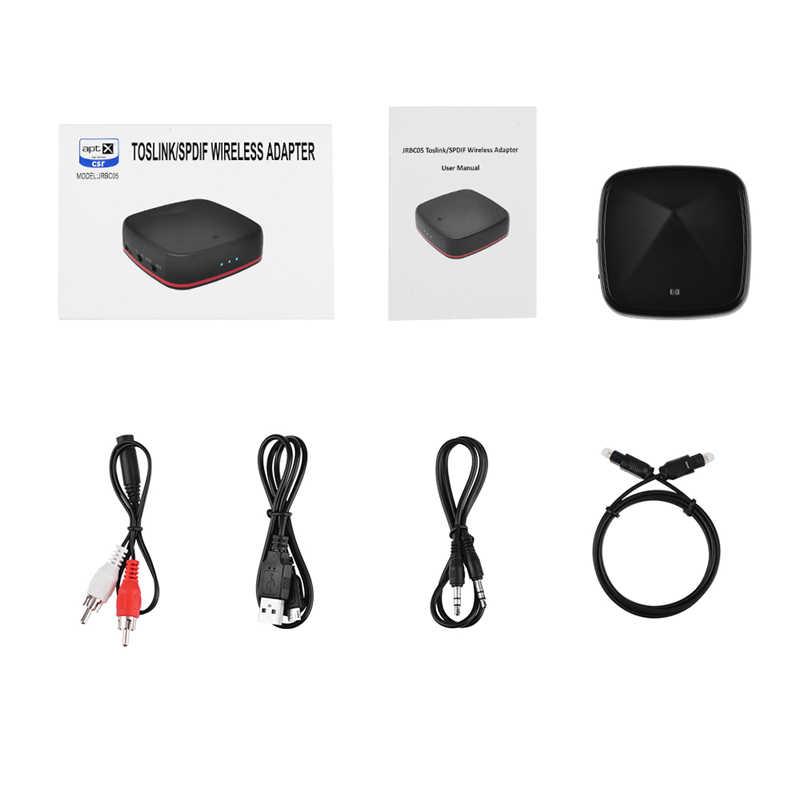 HAAYOT Aptx HD CSR8675 Bluetooth 5,0 передатчик приемник Цифровой оптический TOSLINK 3,5 мм беспроводной аудио адаптер APT-X для ТВ ПК