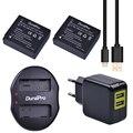 2 шт. DMW-BLG10 DMW BLG10 DMW BLG10e батарея для камеры + USB двойное зарядное устройство для Panasonic BLG10E BLG10GK BLG10 DMC-GF6 DMC-GX7 GF6 GX7