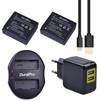 2 pcs DMW-BLG10 DMW DMW BLG10 BLG10e Bateria Camera + USB Dual Carregador para Panasonic BLG10E BLG10GK BLG10 DMC-GF6 DMC-GX7 GF6 GX7