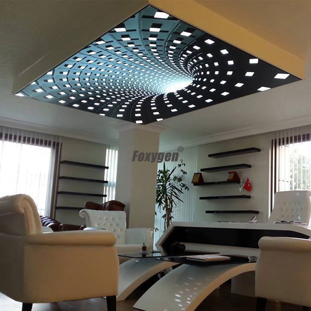 Swimming Pool Ceiling Decor 3d Digital Uv Printed Pvc Stretch