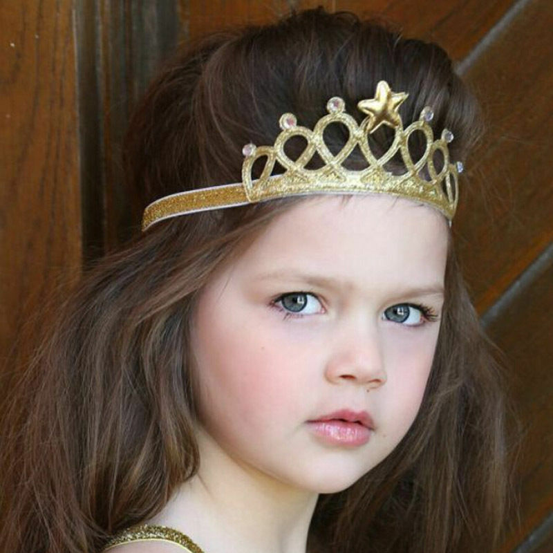 Newest Fashion Baby Girls Princess Queen Crown Hairband Headband Kids Tiara Birthday Gift