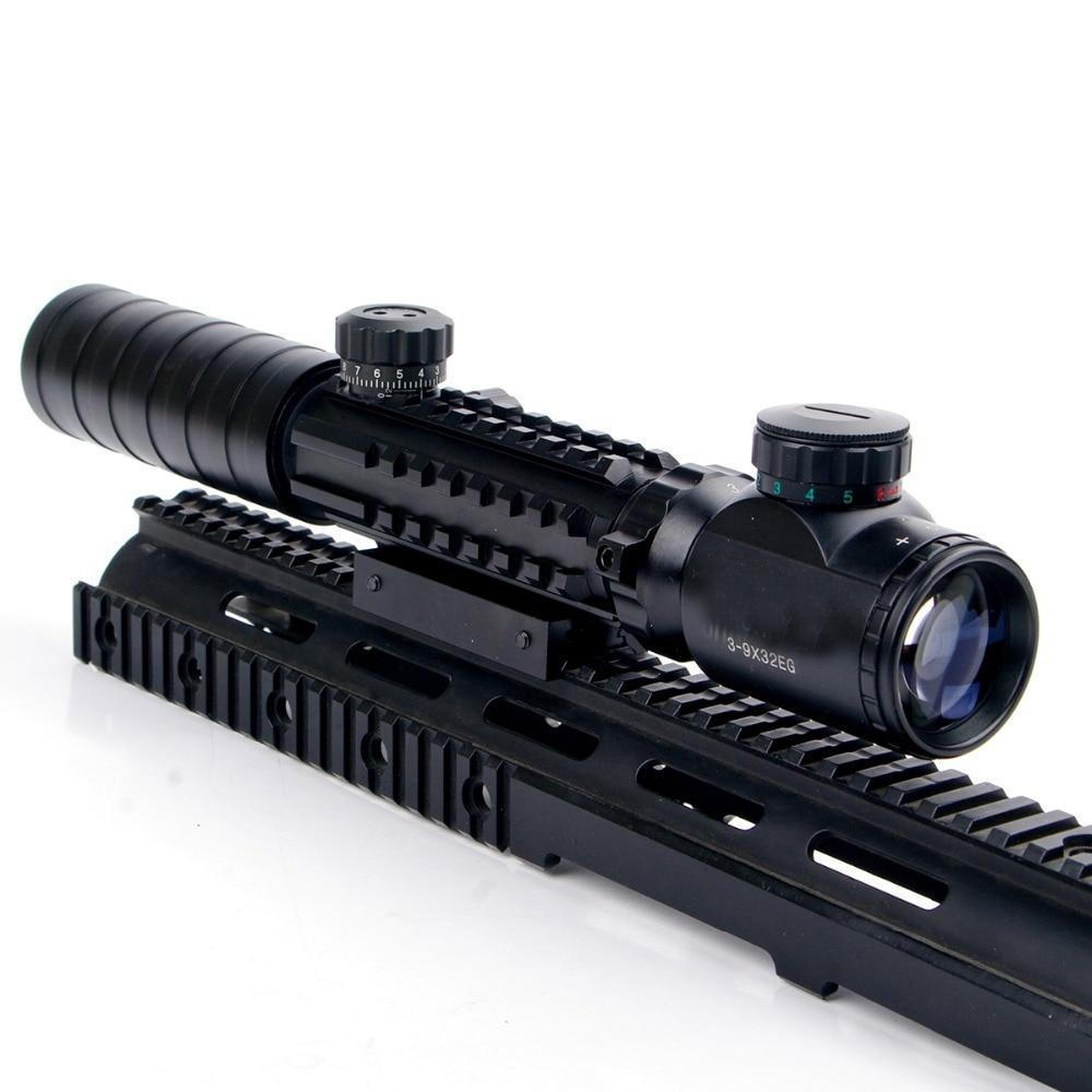 Nuevo 3-9x32EG Riflescope Rojo y verde Iluminado Telémetro Retículo - Caza - foto 4