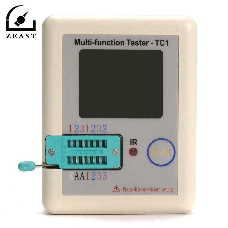 L CR-TC1 TFT Colorful Display  Backlight Transistor Tester for Diode Triode Capacitor Resistor Transistor  ESR NPN PNP MOSFET