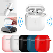 Wireless Charge Case for Airpods QI Standard Airpods Wireless Charging Receiver Cover for Apple Silicone Case 4-piece Suit(China)
