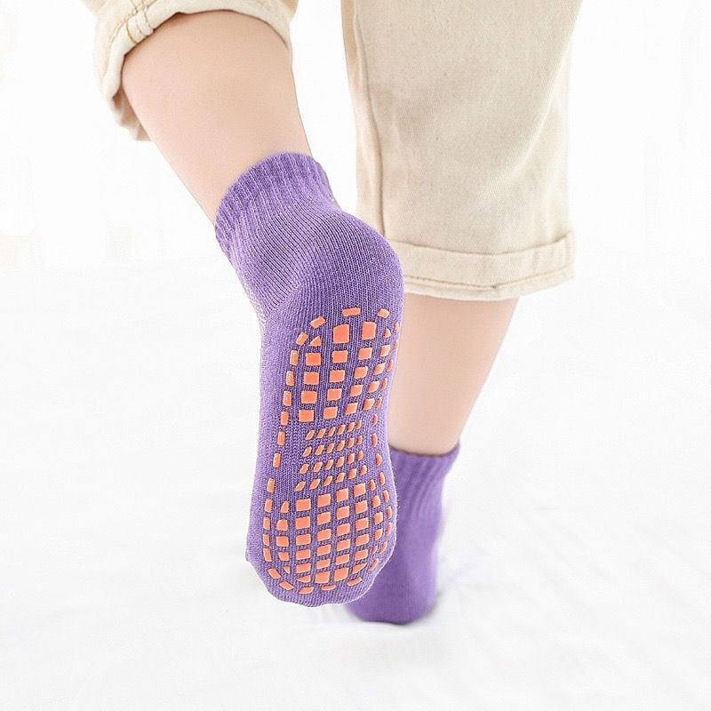 Autumn/Winter/Spring/Summer Thin And Breathable Non-slip Floor Socks Boy and Girl Towel Socks Home Socks Cotton Candy Color 2