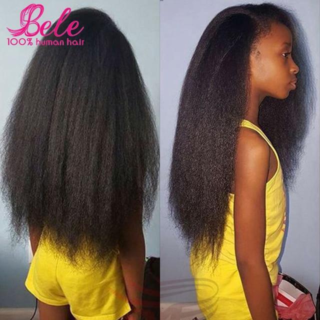 Brazilian Hair Weave Bundles Yaki Human Hair 3pcs Brazilian Virgin