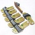 2016 unisex massagem ponto japonês tamancos sandálias de madeira GETA tamancos sapatos madeira plana apartamentos sapatos verão chinelos casa sandálias
