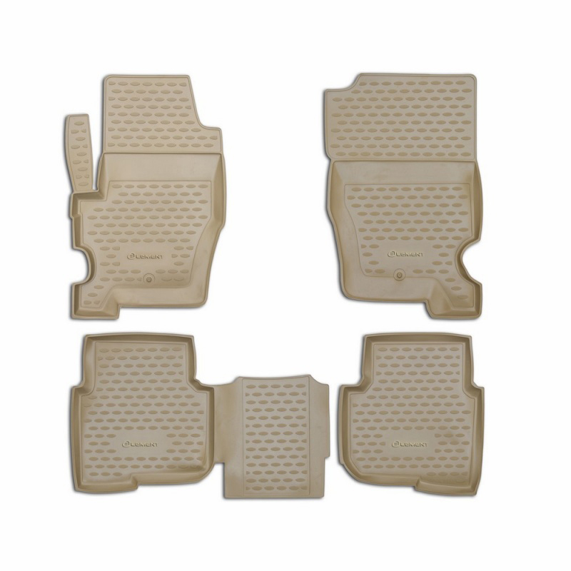 Фото - Mats in the salon For LAND Rover Discovery 4, 2010-2014, 4 PCs (polyurethane, beige) car mats 3d salon for land rover freelander 2 2013 4 pcs polyurethane