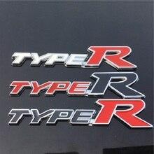 цена на Metal Car Styling Sticker Car Door Tail Decal Emblem Badge 3D TYPER TYPE R Racing Emblem Logo Decal Sticker