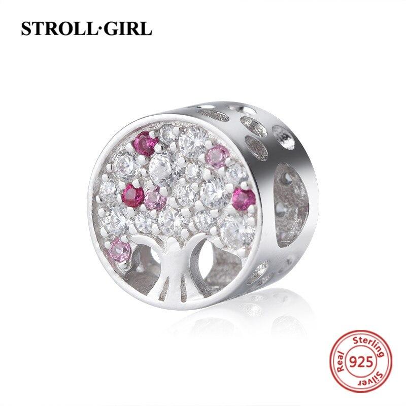 Nouvelle arrivée le arbre de vie charmes avec Zircon Cubique 925 argent perles fit authentique pandora bracelet bricolage mode bijoux cadeaux