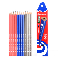 Marco 9002 Non toxic colorful Triangle High Quality Standard Pencils 2H/2B/HB Professional School Stationery Office Supplies|Standard Pencils|Education & Office Supplies -