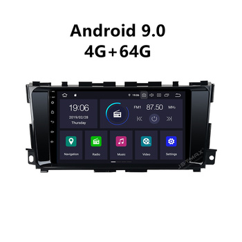 """JSTMAX 9"""" Android 9.0 4GB+64GB Car GPS Radio Player for Nissan Altima Teana 2013-2017 Multimedia player IPS Touch Screen"""