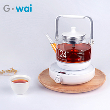 все цены на 800ML Automatic Glass Bottle Warm Electric Kettle Health Preserving Pot Glass Boiled Tea Pot High Temperature Extraction 220V онлайн
