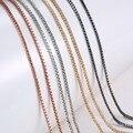 60 cm de Aleación de Cadena de La Serpiente Collares de Cadena de Cuentas de Collar pulsera Accesorios de BRICOLAJE Mi Moneda Colgante para Las Mujeres de Los Hombres Colgantes de La Joyería