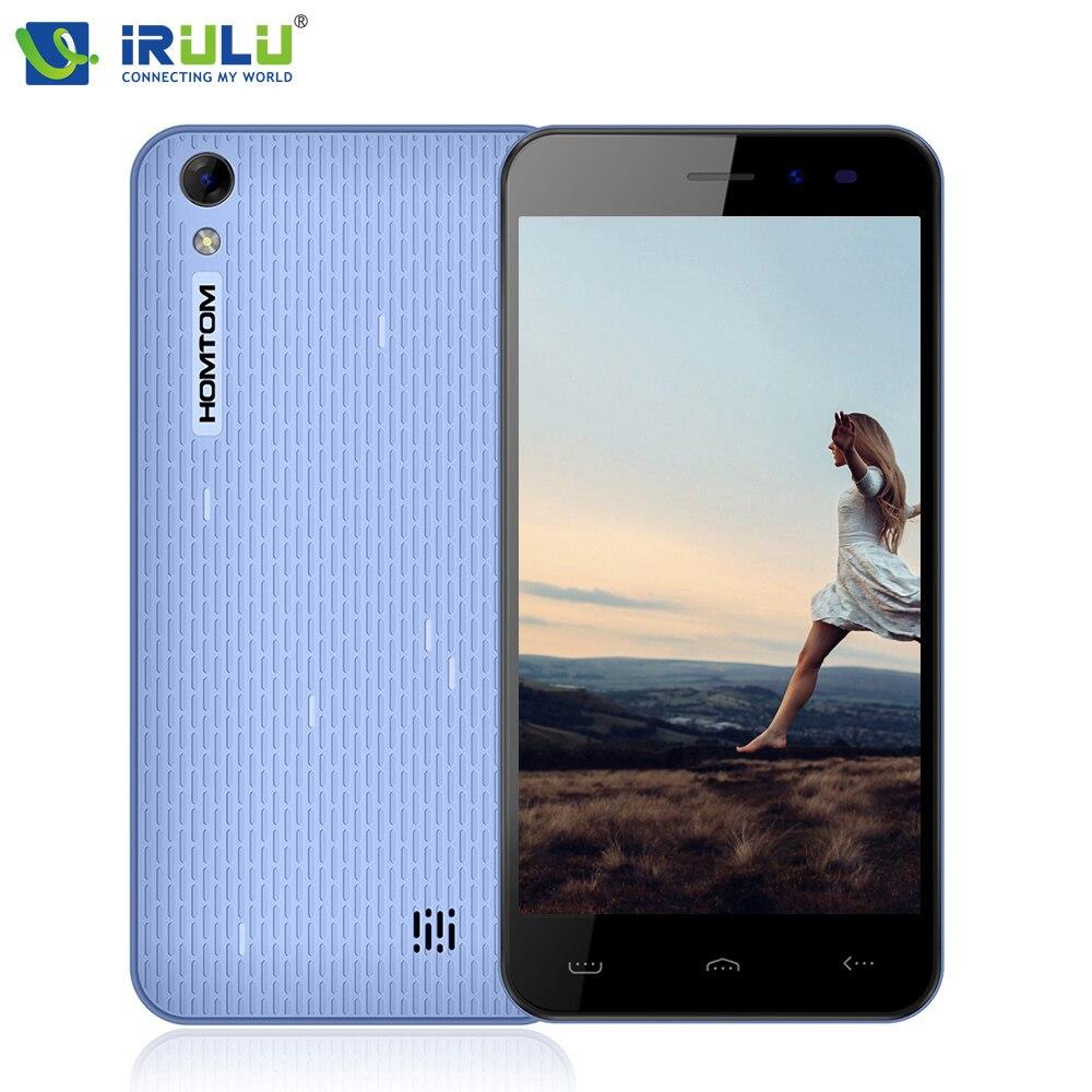 Original mt6580 homtom ht16 5.0 ''1280x720hd irulu smartphone android 6.0 quad c