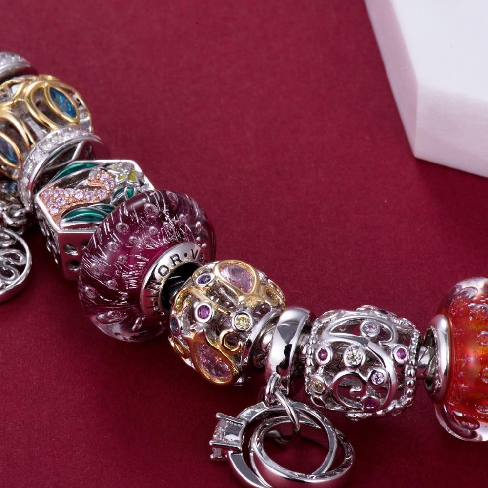 Video! Goldene Rose am Rebstock 925 Sterling Silber Perlen Charms - Modeschmuck - Foto 3