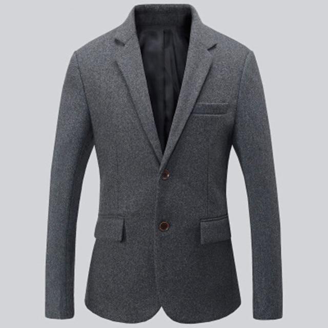 Nero e grigio abiti da uomo giacca misto lana giacca e cravatta formale giacca  due bottoni dcef702b006