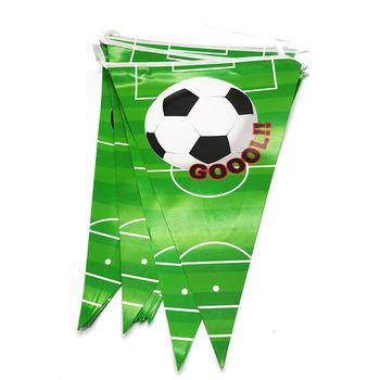 10 sztuk paczka z motywem piłki nożnej party banery papierowe flagi piłki nożnej theme strona flagi piłki nożnej akcesoria z motywem przyjęcia urodzinowego tanie i dobre opinie paper 8001 Birthday party Environmental protection