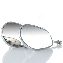Пара алюминиевый Chrome боковые зеркала заднего вида мотоциклов Зеркало Универсальный для Harley-Davidson #5174